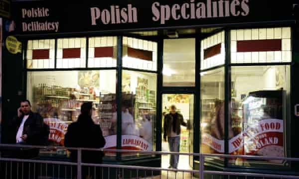 European immigrants in Britain are predominantly Polish.