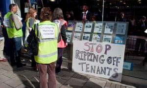 Housing activists in Haringey.
