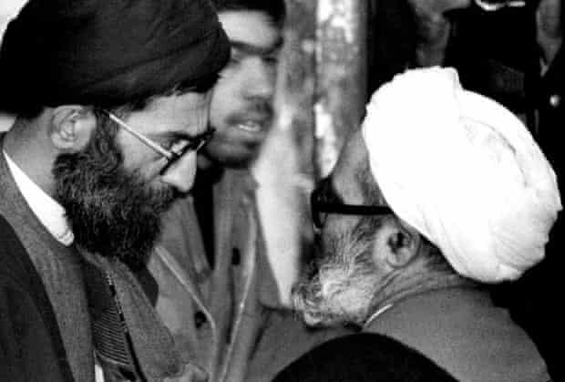 Ayatollahs Khamenei and Montazeri