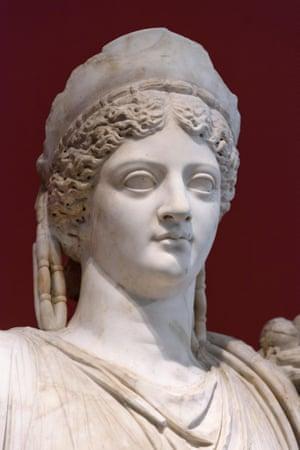 A statue of the Emperor Augustus's wife Livia Drusilla in Berlin.