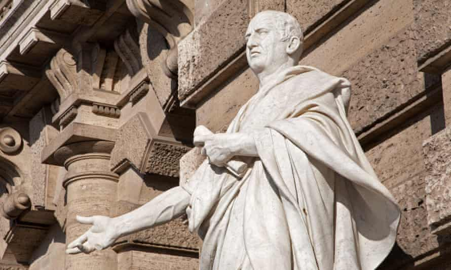 A statue of Cicero outside the Palace of Justice in Rome.