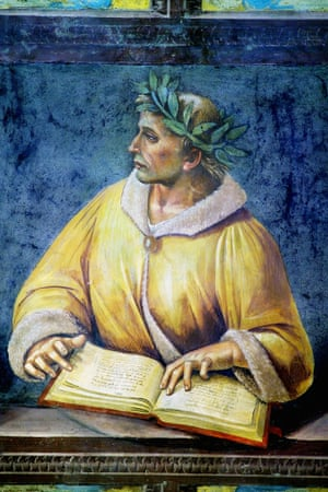 A fresco portrait of Ovid by Luca Signorelli in the Orvieto Cathedral, Italy.