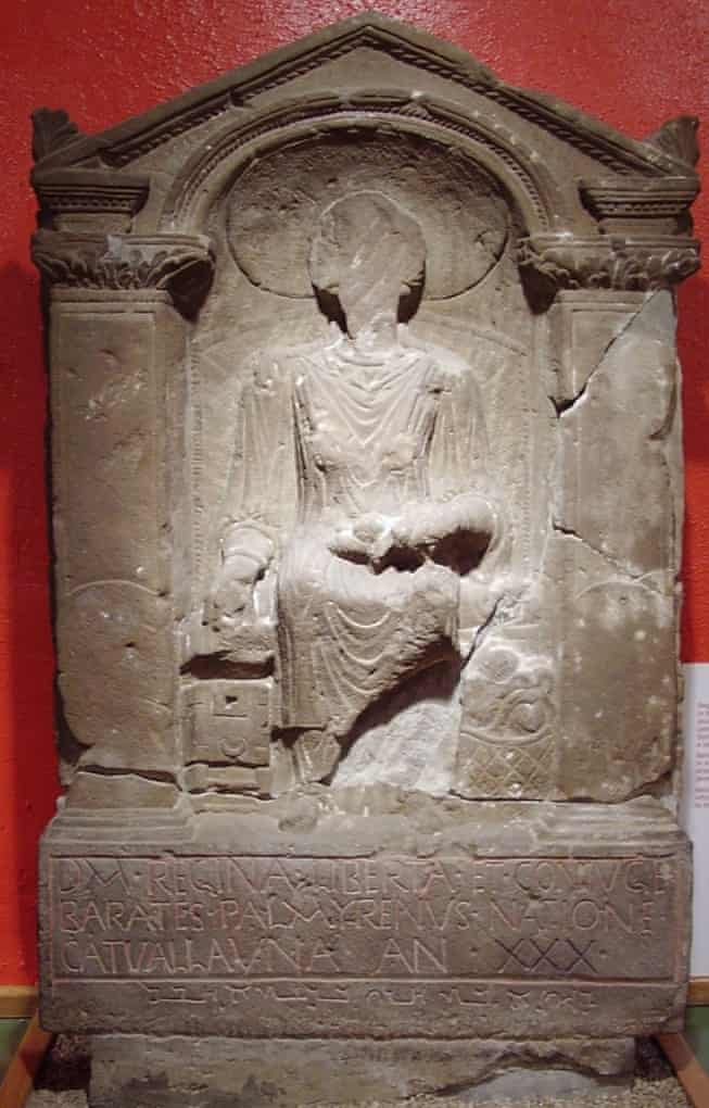 The gravestone of Regina, on display at the Arbeia Roman Fort and museum, South Shields. Photo: Alun Salt
