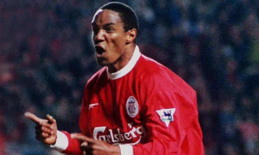 Paul Ince scores for Liverpool