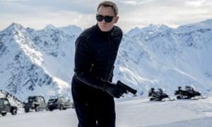 Daniel Craig in the most recent James Bond film, Spectre