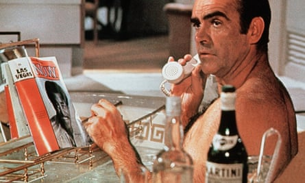 Sean Connery's James Bond enjoys a Martini in 1971's Diamonds are Forever.