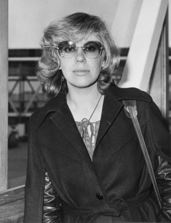 Erica Jong in London in 1976, three years after Fear of Flying made her an international celebrity.