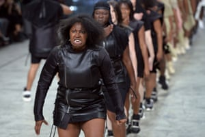 The Rick Owens catwalk in September 2013.