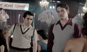 John Lloyd Young (Frankie Valli) and Vincent Piazza (Tommy DeVito) in Jersey Boys