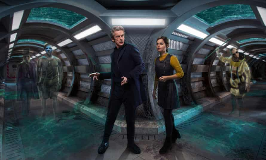 Prentis, Moran, the Doctor, Clara and Pritchard