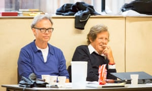 Jonathan Kent, left, and David Hare at Ivanov rehearsals, Chichester Festival theatre.