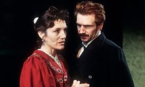 Ralph Fiennes and Harriet Walter in Ivanov.