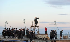 Grimes on the Beach - part of the 2013 Aldeburgh festival.