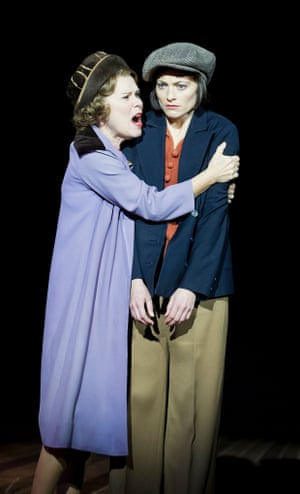 Imelda Staunton as Rose and Lara Pulver as Louise in Gypsy.