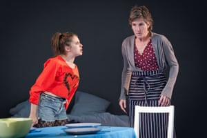Bel Powley as Tilly and Tamsin Greig as Hilary in Jumpy