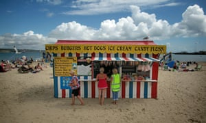 food stall on beach