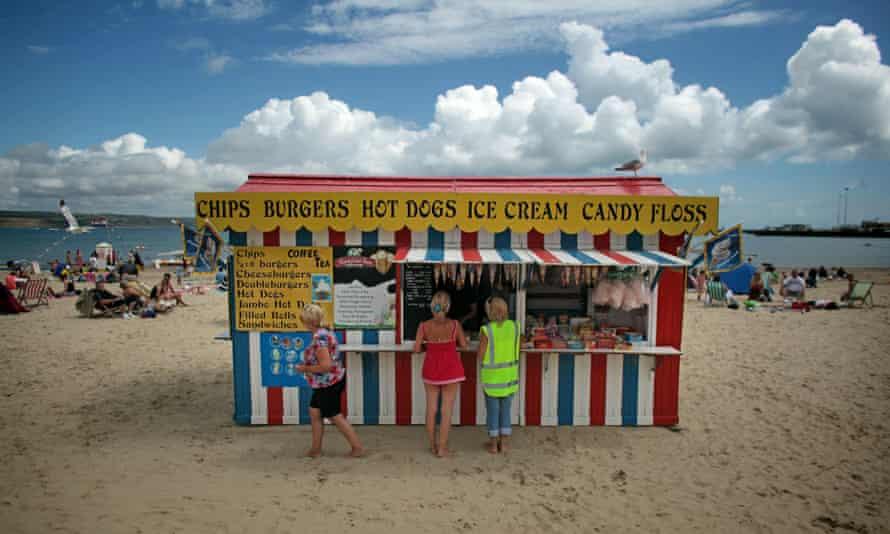 food stall on beach