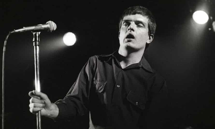Ian Curtis performing live in Rotterdam in 1980.