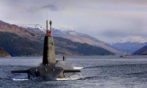 HMS Vengeance - the Royal Navy's Vanguard Class Trident Nuclear Submarine