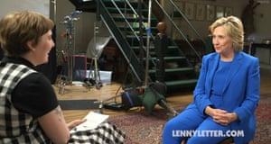 Lena Dunham interviews Hillary Clinton.