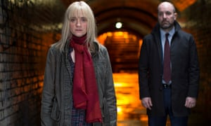 Anne-Marie Duff as Claire Church and Johnny Harris as DCI John Hind in From Darkness. Photograph: Sa