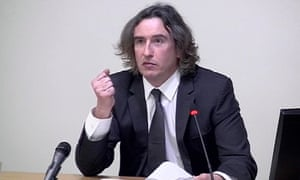 Coogan at the Leveson inquiry.