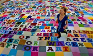 Giant knitted poem