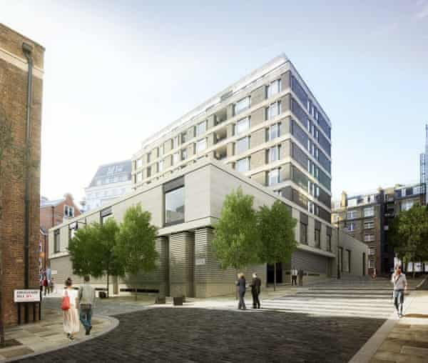 A CGI of the new Gagosian Gallery in Mayfair.