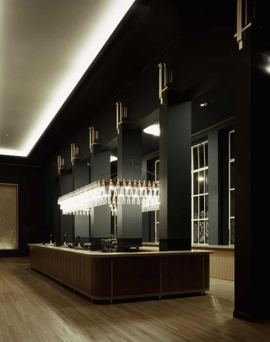 The Liverpool Philharmonic Hall's first-floor bar.