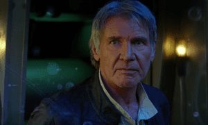 Harrison Ford as Han.