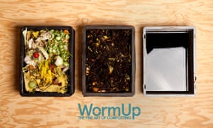 Worm composting boxes
