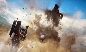 In-game shot of action in Just Cause 3