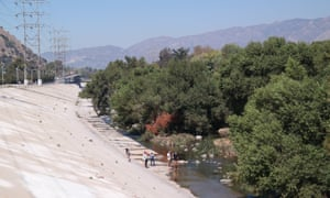 The concrete never took hold on the soft-bottomed riverbed of the Glendale Narrows, so nature has since taken its course.