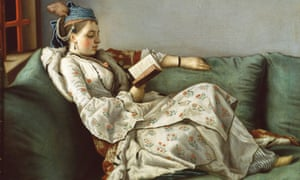 Jean-Etienne Liotard's Woman on a Sofa Reading
