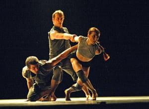 William Trevitt, Michael Nunn and Sylvie Guillem in Broken Fall at Sadler's Wells in 2004