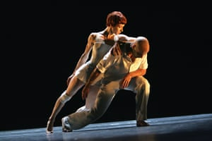 Sylvie Guillem and Russell Maliphant in Push at Sadler's Wells in 2005