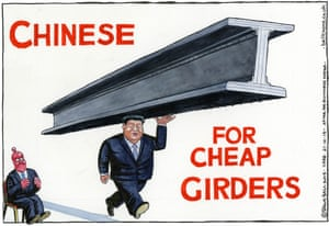 Steve Bell on the Xi visit.