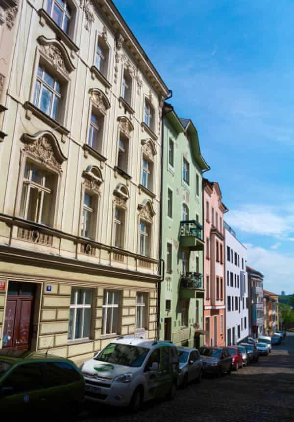 'Crammed with Art Nouveau and neo-classical buildings, some in need of love more than others':  the colourful Vršovice neighbourhood.