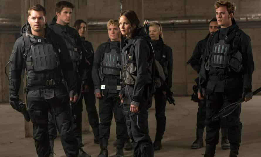 A scene from The Hunger Games: Mockingjay, Part 2.