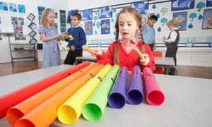 A music lesson for primary school-age children