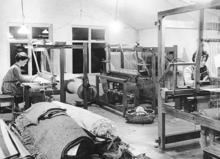 Mourne Textiles workshop in the 1960s
