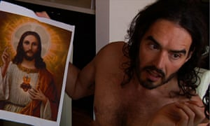 Christ: it's him again. Russell Brand in A Second Coming.