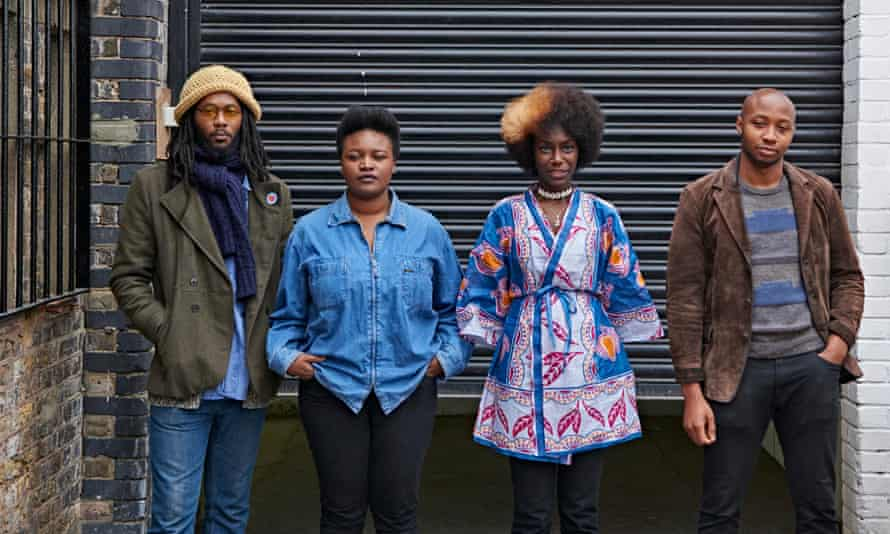 Young, romantic and black: from left, artist Barka, poet Belinda Zhawi, publisher Swanzy, film-maker Shola Amoo.