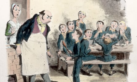 Education has become a consumer good, and could all go wrong ... Illustration from Charles Dickens' Oliver Twist