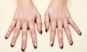 Manicured hands