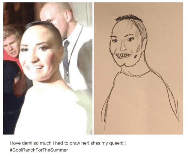 Demi Levato drawing