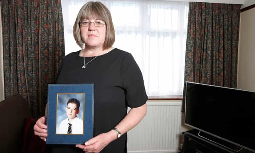 A mother's loss: Sally Evans with a picture of her son Thomas, who was killed in Kenya fighting for al-Shabaab.