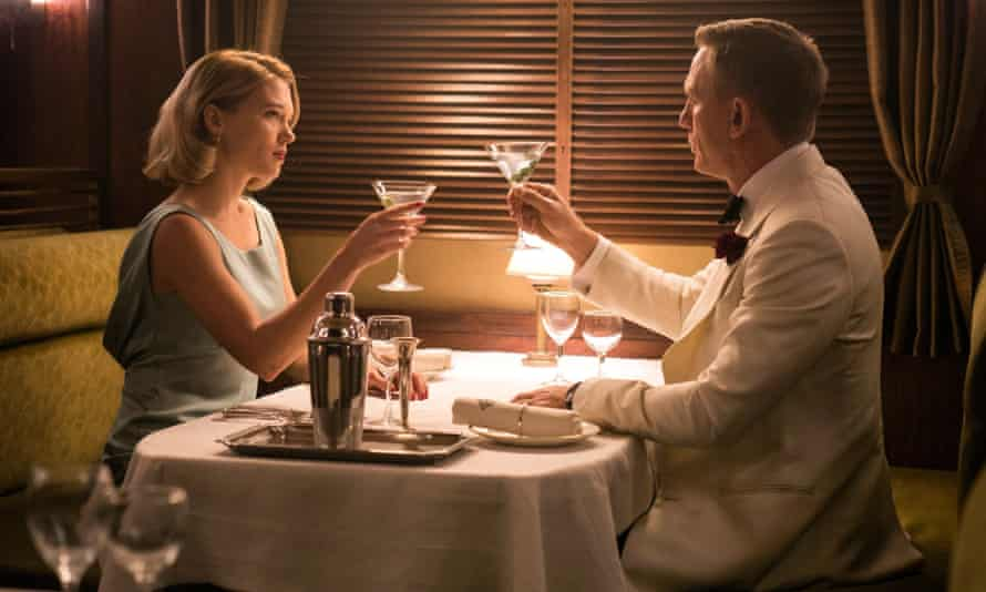 Cheers: Léa Seydoux and Daniel Craig in Spectre.