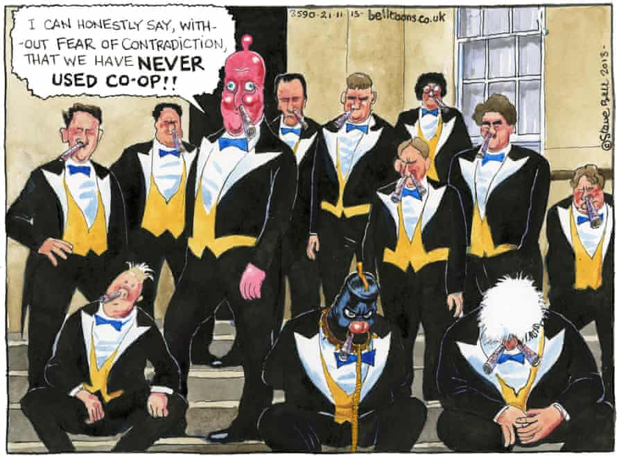 Swagger … theUniversity ofOxford's Bullingdon Club as imagined bySteve Bell.