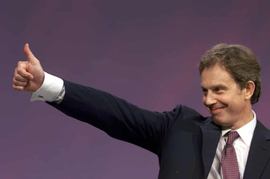 Tony Blair at the Labour party's 1999 conference at which he announced: 'The class war is over.'